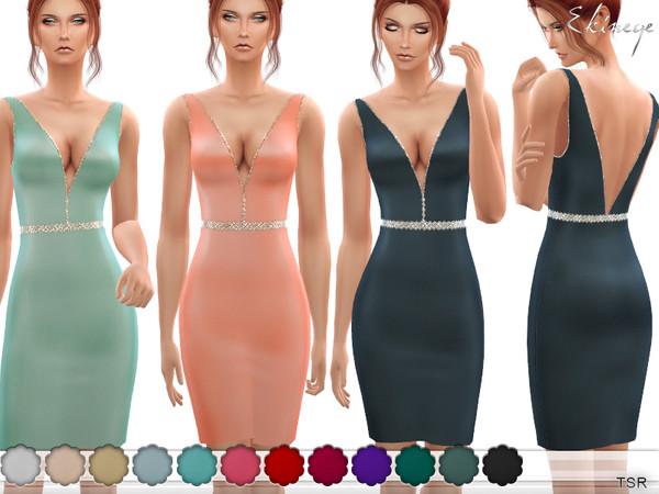 Sims 4 Beaded Waist Short Dress by ekinege at TSR