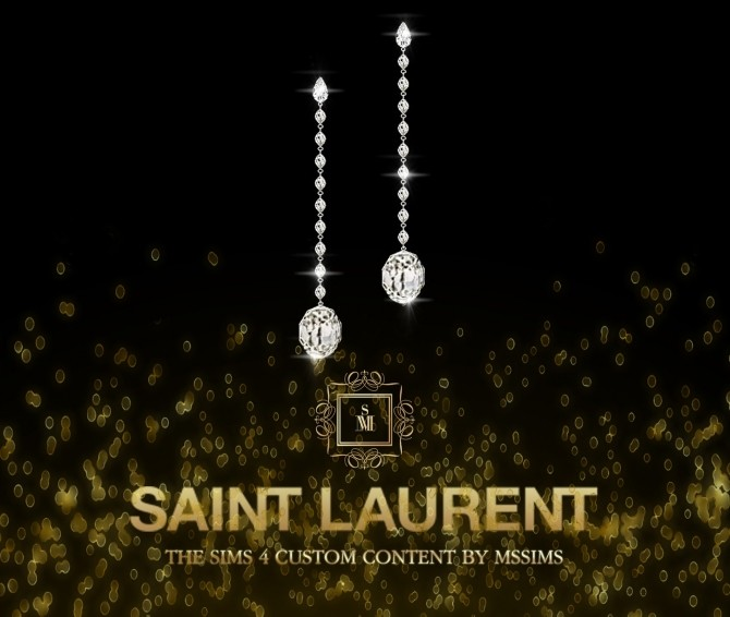 Sims 4 SAINT LAURENT EARRINGS at MSSIMS