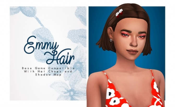 Emmy short cute hair with lil clips at Isjao – working on uni image 902 670x410 Sims 4 Updates