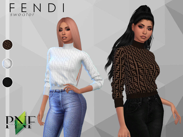 Sims 4 Sweater by Plumbobs n Fries at TSR