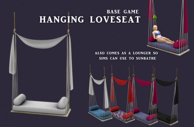 Sims 4 Hanging Loveseat Lounger (P) at Leo Sims
