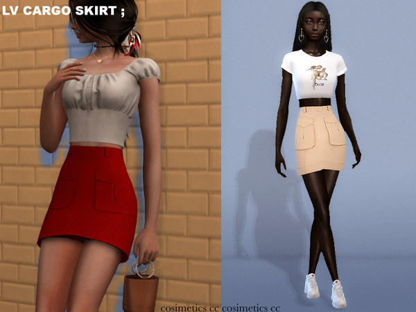 lv cargo skirt by cosimetics at TSR image 920 Sims 4 Updates