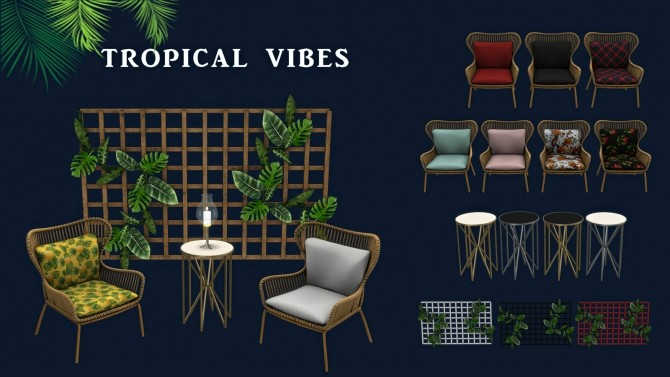 Sims 4 Tropical Vibes set (P) at Leo Sims