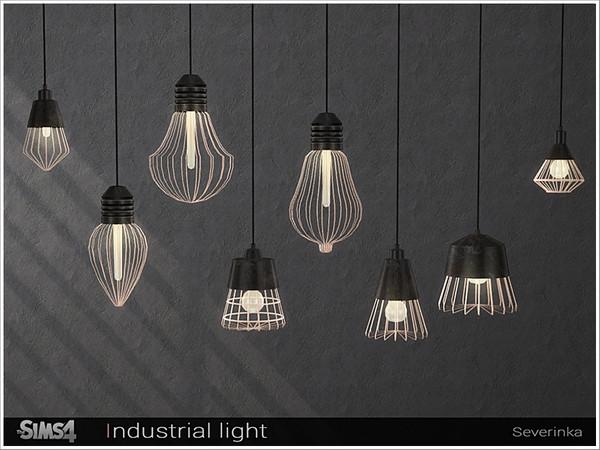 Sims 4 Industrial light set by Severinka at TSR