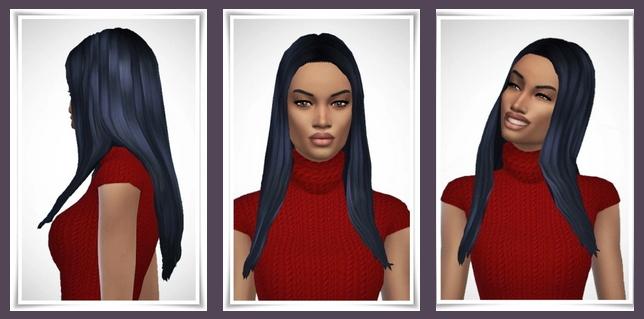 Sims 4 Naomi's Long Straight Hair at Birksches Sims Blog