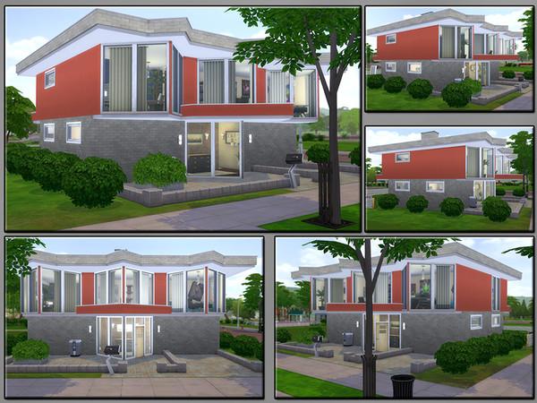 Sims 4 MB Next Corner house by matomibotaki at TSR