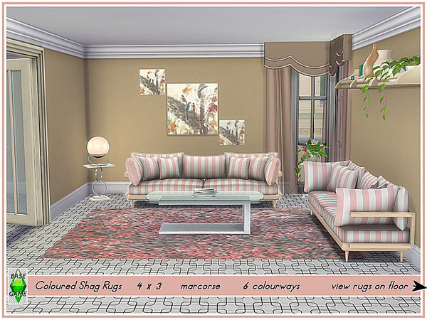 Coloured Shag Rugs by marcorse at TSR image 960 Sims 4 Updates
