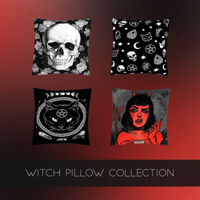 WITCH PILLOW COLLECTION at Kenzar Sims image 9610 670x670 Sims 4 Updates