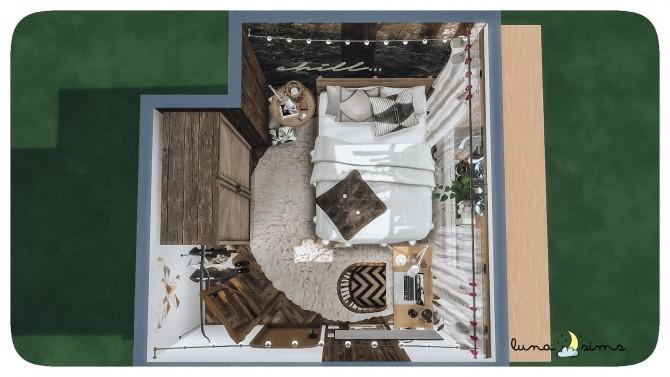 Sims 4 TUMBLR BOHO BEDROOM at Luna Sims