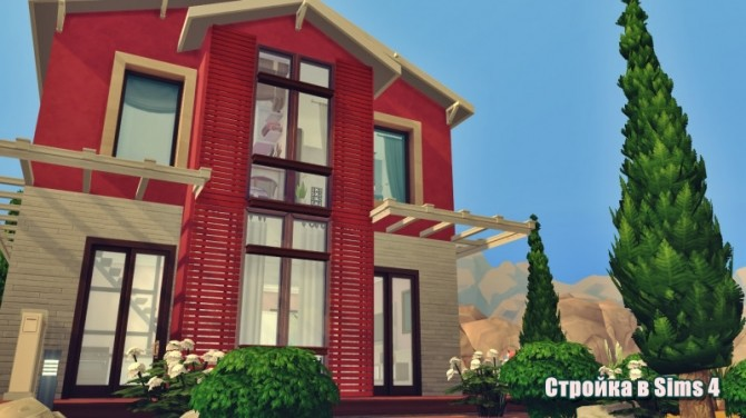 Red Modern house at Sims by Mulena image 9614 670x376 Sims 4 Updates