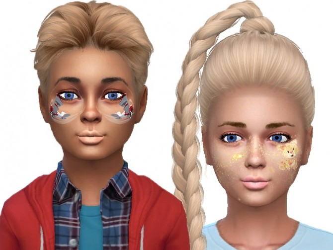 Face paint for kids at Trudie55 image 9711 670x503 Sims 4 Updates
