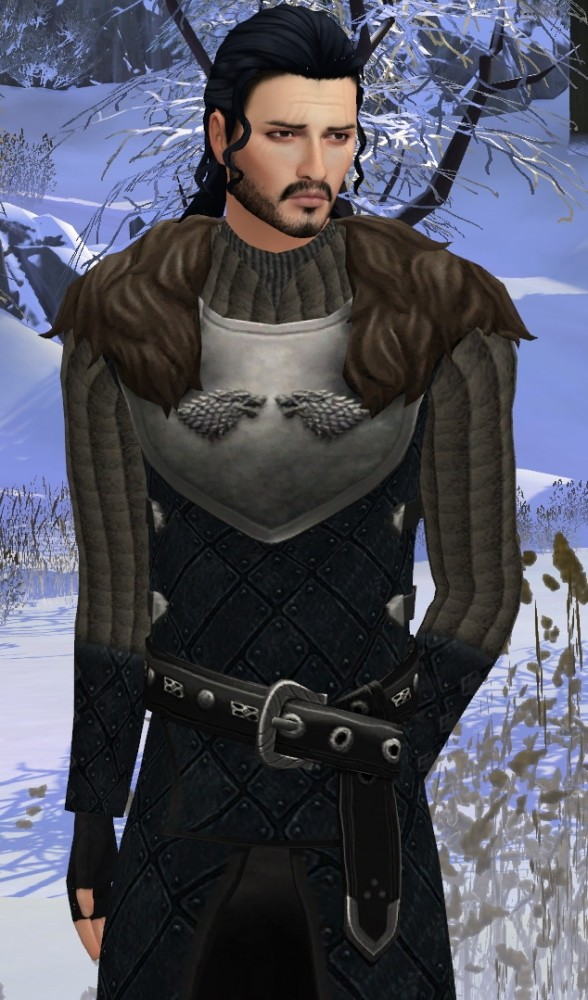 Sims 4 Game of Thrones Jon Snow Leather outfit by HIM666 at Mod The Sims