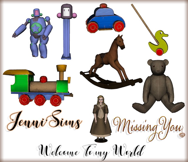 Sims 4 Decorative set Clutter 8 Items at Jenni Sims