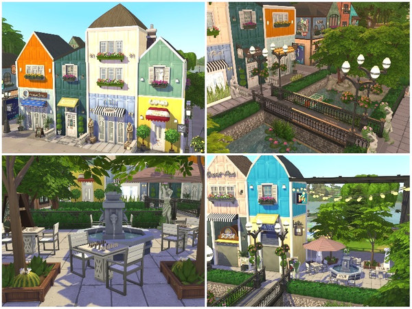 RAINBOW VILLAGE PART 3 by lotsbymanal at TSR image 1012 Sims 4 Updates