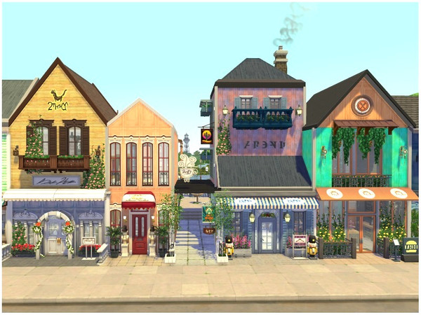 RAINBOW VILLAGE PART 1 by lotsbymanal at TSR image 102 Sims 4 Updates