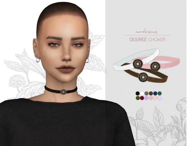 Sims 4 Desiree Choker at Merakisims