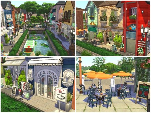 RAINBOW VILLAGE PART 1 by lotsbymanal at TSR image 103 Sims 4 Updates