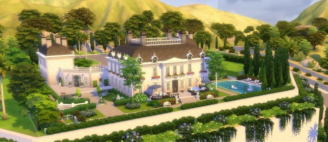 Sims 4 Huis ter Voorst castle by BrigitteV at Mod The Sims