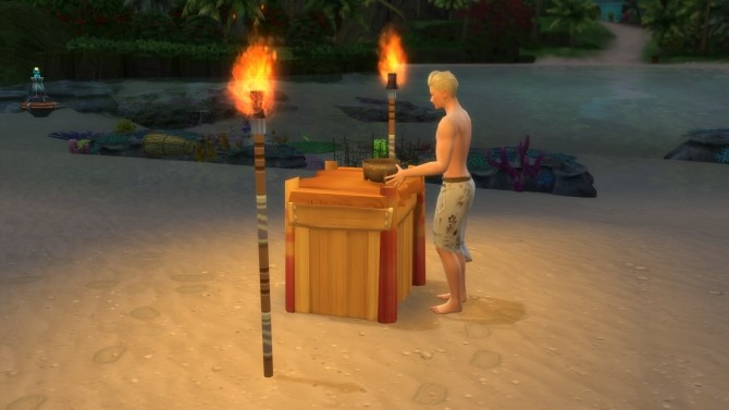 Sims 4 Beach counter of Sulani by Serinion at Mod The Sims