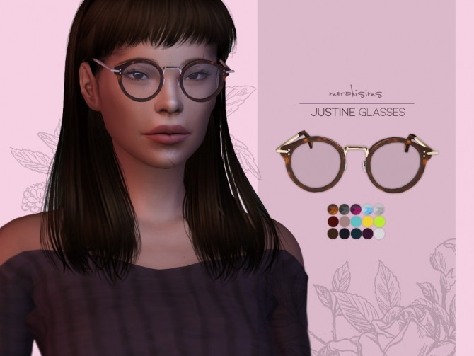 Sims 4 Justine Glasses at Merakisims