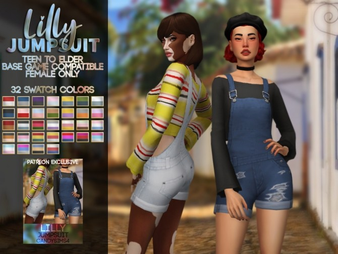 Sims 4 LILLY JUMPSUIT at Candy Sims 4