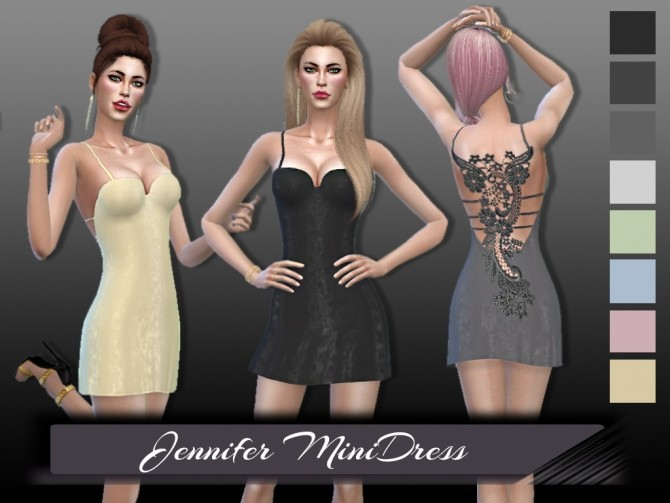 Sims 4 Jennifer Mini Dress at Seger Sims