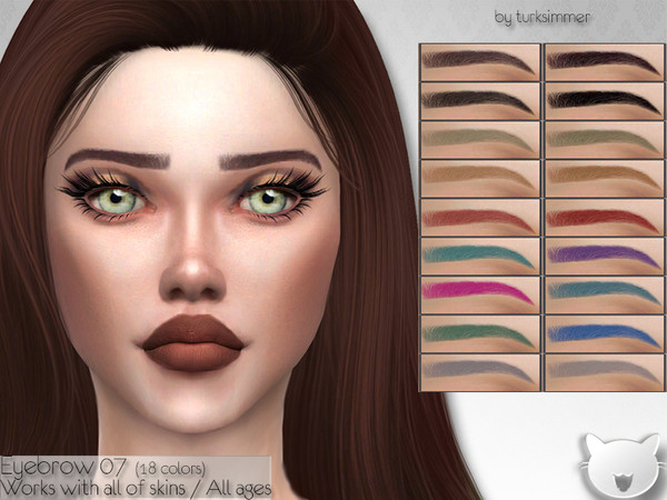 Sims 4 Eyebrows 07 by turksimmer at TSR