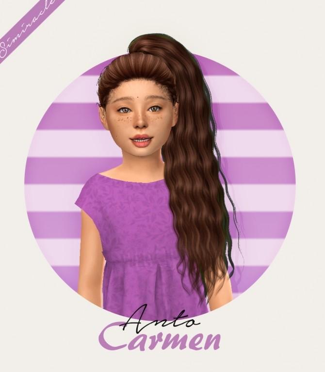 Sims 4 Anto Carmen Hair Kids Version at Simiracle