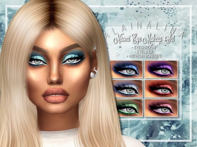 Naomi Eye Makeup Set at AlainaLina image 11014 670x503 Sims 4 Updates