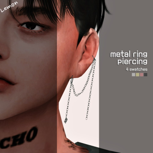 Sims 4 Metal ring piercing at Lemon Sims 4