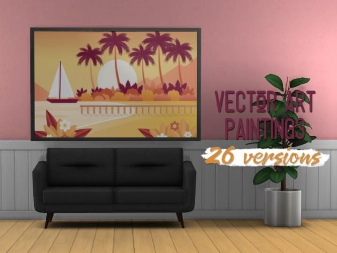 Sims 4 Vector painting set at Midnightskysims