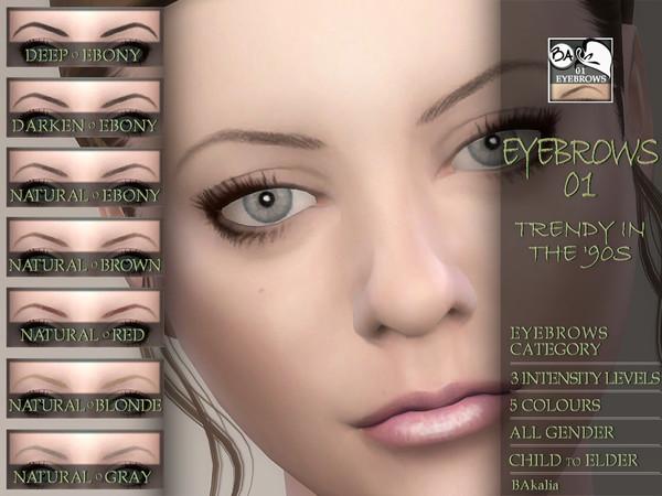 Sims 4 Eyebrows 01 by BAkalia at TSR