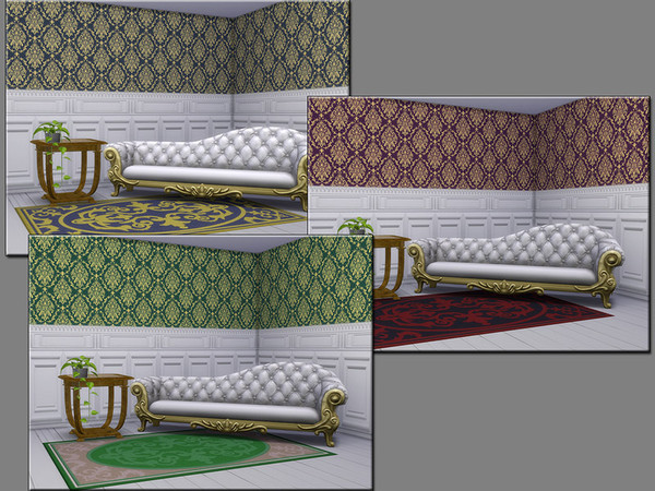 Sims 4 MB Vintage Venue Classy Elegance wallpaper by matomibotaki at TSR