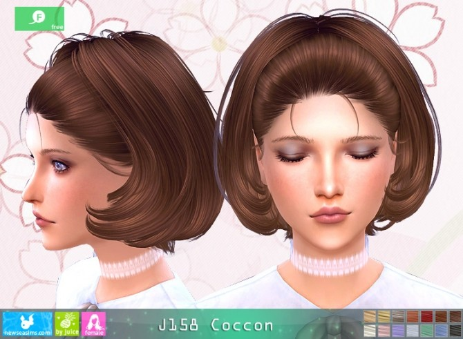J158 Coccon hair at Newsea Sims 4 image 11711 670x491 Sims 4 Updates