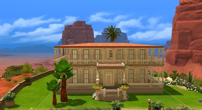 Sims 4 Maison des Iles NO CC by valbreizh at Mod The Sims