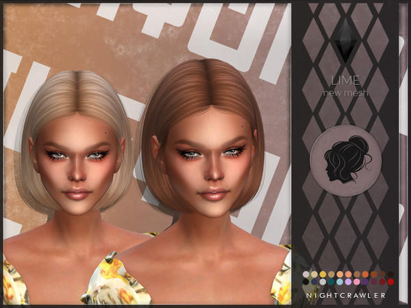 Lime hair by Nightcrawler at TSR image 12012 Sims 4 Updates