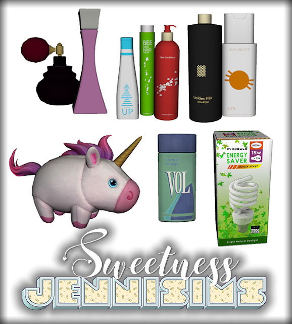 Sims 4 Sweetness set Clutter 6 Items at Jenni Sims