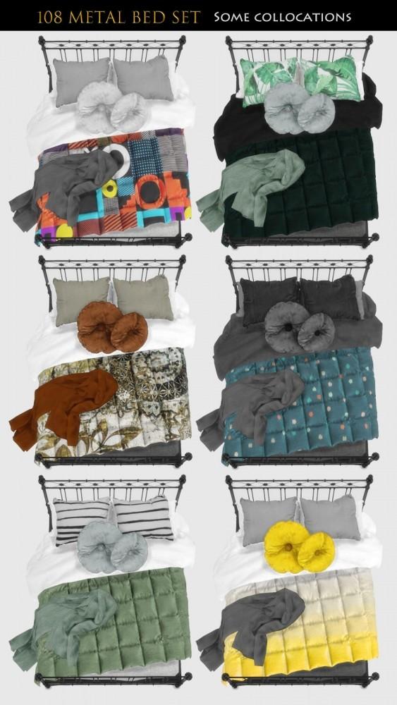 Metal Bed Set (P) at Viviansims Studio image 12116 563x1000 Sims 4 Updates