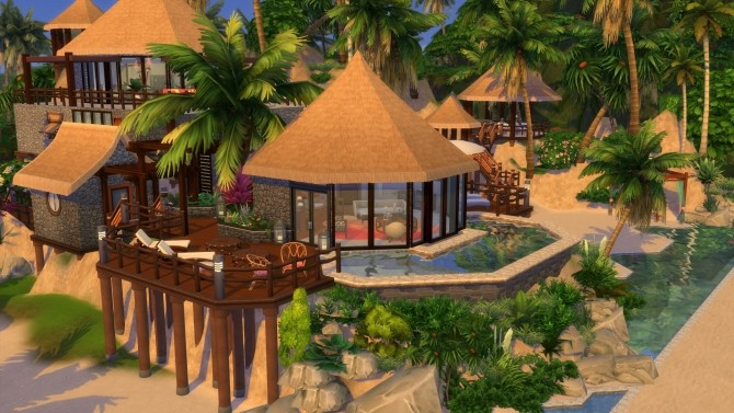 Beach House Fiji Island Hotel Resort by maudhuy at L'UniverSims image 12210 670x377 Sims 4 Updates