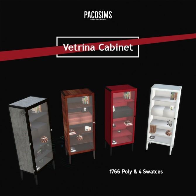 Sims 4 Vetrina Cabinet (P) at Paco Sims