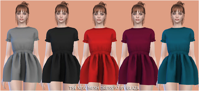 Dress 97 at All by Glaza image 1243 Sims 4 Updates
