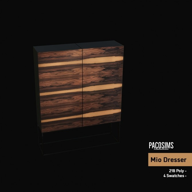 Sims 4 Mio Dresser (P) at Paco Sims
