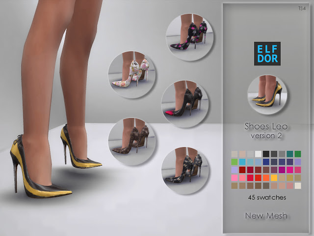 Shoes Leo version 2 at Elfdor Sims image 1247 Sims 4 Updates