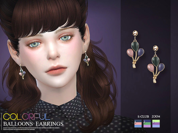 Sims 4 EARRINGS 201914 by S Club LL at TSR