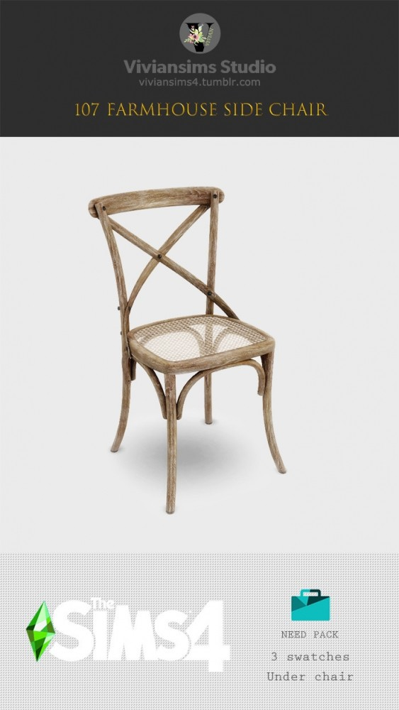 Sims 4 107 Farmhouse Side Chair (P) at Viviansims Studio