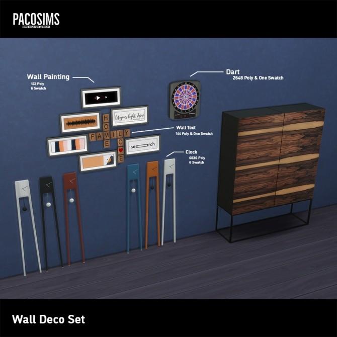 Sims 4 Wall Deco Set (P) at Paco Sims