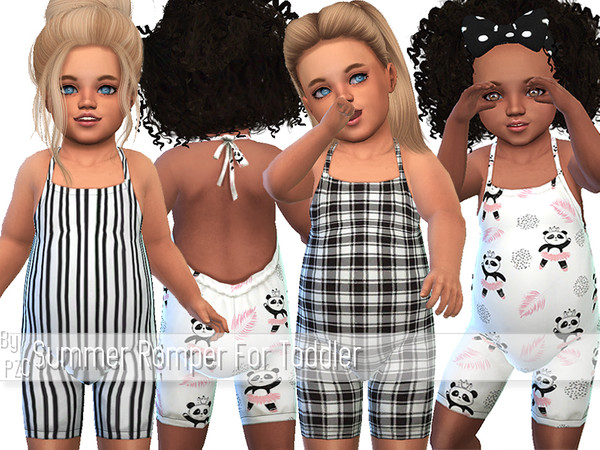 Sims 4 Summer Romper For Toddler by Pinkzombiecupcakes at TSR