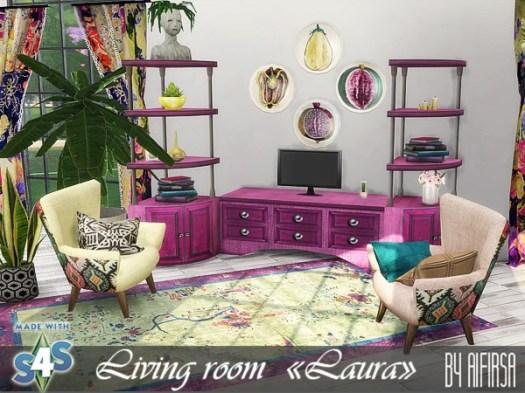 Sims 4 Laura living room at Aifirsa