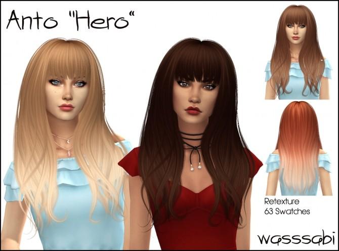 Sims 4 Antos Hero hair retexture at Wasssabi Sims