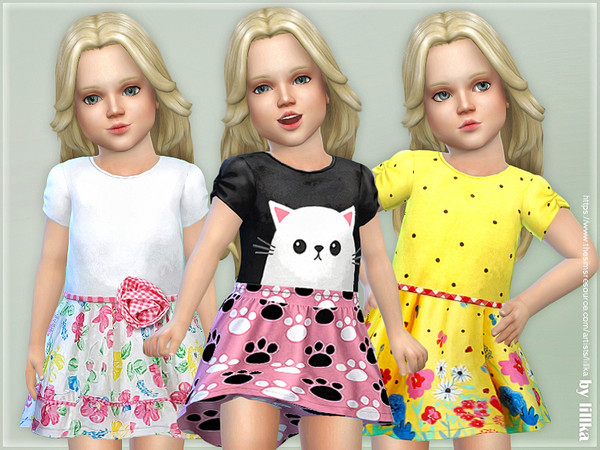 Toddler Dresses Collection P100 by lillka at TSR image 128 Sims 4 Updates